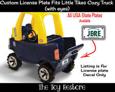 Replacement Decal for Little Tikes Cozy Truck License Number Plate Florida