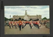 Valentine Vintage Postcard Victoria Memorial Buckingham Palace and Horse Guards
