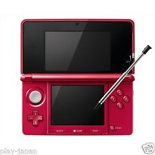 Exc Nintendo 3DS Metallic Red System Console w/Battery & SD Card Japanese ver