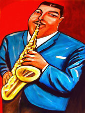 CANNONBALL ADDERLEY PRINT poster jazz alto saxophone somethin' else cd miles art