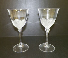 CRISTAL J G DURAND FLORENCE SATINE WHITE WINE CRYSTAL GLASSES - PAIR (2)  6 5/8""