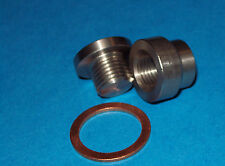 Transmission pan drain plug (weld in) 12mm KIT, STEEL BUNG & STEEL PLUG+WASHER