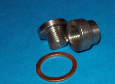Transmission sump drain plug (weld in) 12mm KIT, STEEL BUNG & STEEL PLUG+WASHER