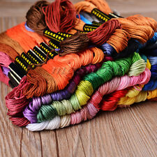 50pcs Colors Cross Stitch Thread Embroidery Floss Sewing Skeins 100% Cotton Line