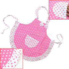 Child's Polka Dots Princess Apron for Kid's Baking Party Children's Kitchen Cook