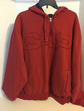 NEW NWT Mens GAP Logo Front Zipper Hooded Sweatshirt Hoodie Red