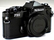 *** Near Mint *** Nikon FE2 35mm SLR Black Camera Body W/ Titanium Shutter