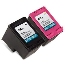 2 Pk HP 60XL Ink Cartridge - DeskJet D2568 D2645 D2660 D2663 D2680 F2400 F2420