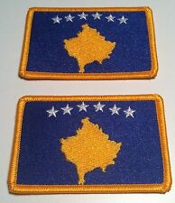 2 KOSOVO Flag With Velcro Patch Biker Military Police Shoulder  Emblem #13