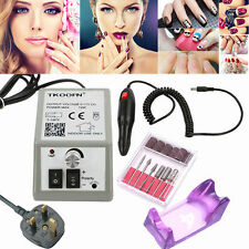 20000 RPM Manicure Electric Nail Art Drill Acrylic UV Gel Files Machine UK Plug