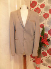 ZARA MAN - LOVELY CASUAL BLAZER – BEIGE SPECKLED WITH ELBOW PATCHES – EUR 50