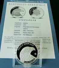 Andorra 2011 Steinadler F15 5 Diner Fabulous 15 Serie Silber PP / proof + COA
