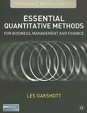 Essential Quantitative Methods for Business, Management and Finance by Les...