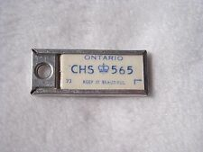 1973 ONTARIO Vintage Mini License Plate WAR AMPS KEY TAG #CHS 565