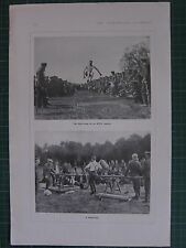 1917 WWI WW1 PRINT ~ LONG JUMP AT O.T.C SPORTS  ~ FIGHTING GAMES TOURNAMENT