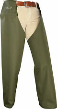 GREEN LIGHTWEIGHT THORNPROOF TOUGH WATERPROOF HUNTING LEGGINGS BEATERS CHAPS