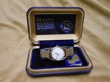 VINTAGE BULOVA SUNBURST DIAL 23 JEWEL 10BPAC SELF-WINDING MENS WATCH RUNS LOOK!