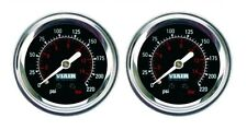 "2 Pack Viair 2"" Single Needle Black Face Gauge (90090) 220 PSI Max Air Ride"