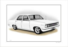 66' 67'  HOLDEN HR SPECIAL SEDAN    LIMITED EDITION CAR PRINT AUTOMOTIVE ARTWORK