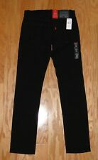 Men's Levi's 511 Slim Jeans Denim NWT Size 30 x 32 Black Red Tab
