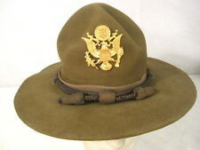 WWII US Army M1911 Montana Peak Campaign Hat - Officer's Hat Cords & Emblem #1