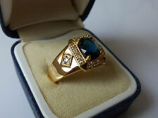 Men's 18ct Gold Filled Plated Signet Ring, size Y.
