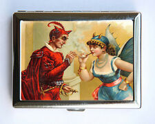 Devil Gypsy smoking Cigarette Case Wallet Business Card Holder victorian retro