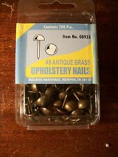 brass upholstery nails french natural nail  head trim tack strip lot