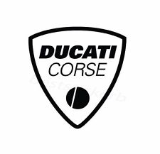 2x DUCATI Corse Logo Moto Sport Car Window Bumper Sticker Vinil Decal 134