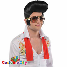 Elvis Presley Sunglasses & Sideburns Adults Fancy Dress Party Costume Accessory