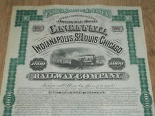 U.S.A., Cincinnati, Indianapolis, St Louis and Chicago Railway Co. $1000 bond