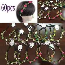 60 Boho Halo Paper Flower Bridal Headband Hairband Crown Garland Prom Party Lots