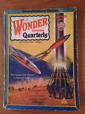WONDER STORIES  QUARTERLY Summer 1932 PULP Magazine Science Fiction Fantascienza