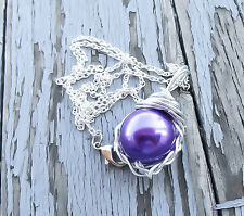 Purple Materia Necklace - Final Fantasy Necklace - FFVII Jewelry - FF7 - Gift