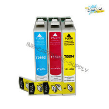 3PK T069 69 Ink for Epson WF 30 500 600 610 615 1100 Stylus CX7000F CX7400