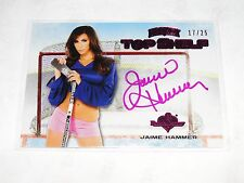 2014 Benchwarmer JAIME HAMMER Hockey 21 Top Shelf Pink Auto/25 PLAYBOY Penthouse