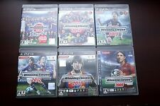 Playstation PS3 World Soccer Winning Eleven PES Japan 6 games lots region free