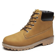Mens Martin Leather Boots Outdoor Waterproof  sports casual Lace up Work Boot