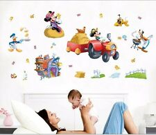 Mickey Mouse Donald Duck Wall Stickers Removable Kids Nursery Decor Art Decal AU