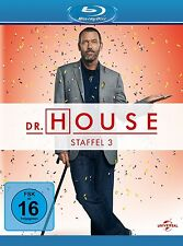 DR.HOUSE SEASON 3 Hugh Laurie, Lisa Edelstein 5 BLU-RAY NEU