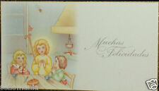 OLD BLESSED CHILD JESUS AND CHILDREN HOLY CARD ANDACHTSBILD SANTINI ESTAMPA C694