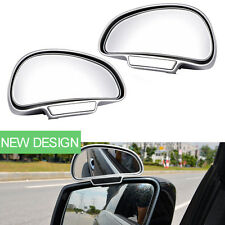 Auto Car Rear View Mirrors Adjust Wide Angle Blind Spot Exterior Mirror Silver