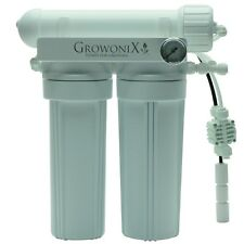 GROWONIX - 100 GPD EX SERIES - RO SYSTEM 2:1 RATIO STEEL GAUGE - WATER FILTER