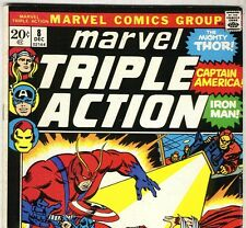 AVENGERS #14 Reprint in MARVEL TRIPLE ACTION #8 from Dec. 1972 in F/VF condition