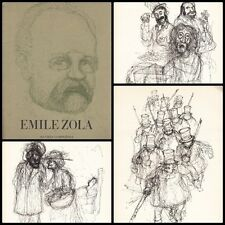 OEUVRES COMPLETES EMILE ZOLA  9 PLANCHES ILLUSTRATIONS ORIGNALES DE TIM