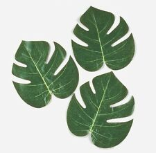 48 Tropical Leaves Luau Party Decor Hawaiian Tropical Beach Wedding Decorations