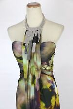 New Authentic Jovani 8189 Multi-colored Halter Long Formal Dress Women Gown 0