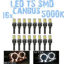 N° 16 Gloeilampen LED T5 Wit 5000K SMD 5630 Koplampen Angel Eyes DEPO FK 12v 1C6