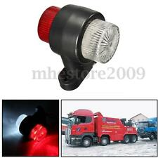 12V 24V 8 LED Red & White Side Marker Lights Indicator Lamp Trailer Truck Lorry