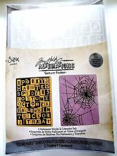 Halloween Words and Cobwebs Sizzix Embossing Folder Set 656942 by Tim Holtz NEW!
